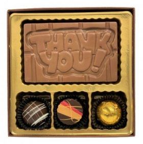 A Thank You Chocolate Bar with Truffles